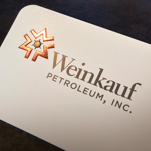 Mullerhaus Legacy's branding and indentity design work for Weinkauf Petroleum, Inc.